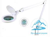Лампа-лупа 3d LED струбцина